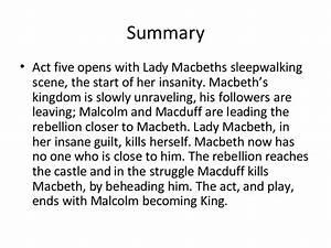 Act 5 of macbet... Macbeth Summary