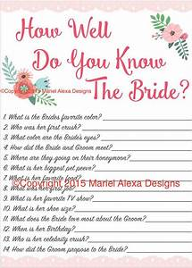 bridal shower game how well do you know the by With pinterest wedding shower games