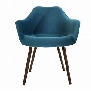 Chaise Velours Bleu : chaise anssen en velours bleu canard commandez les chaises anssen en velours bleu rdv d co ~ Teatrodelosmanantiales.com Idées de Décoration
