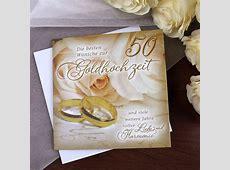 Karte zur Goldenen Hochzeit