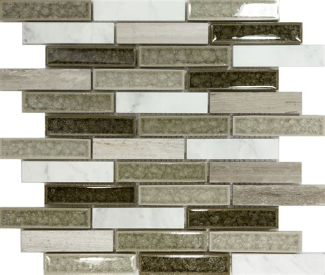 mosaic tile for kitchen backsplash sample gray crackle glass blend mosaic tile