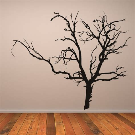 scary bare tree wall stickers bedroom monsters wall