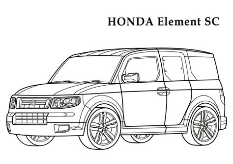 Acura Free Link by Honda Coloring Pages And Print For Free