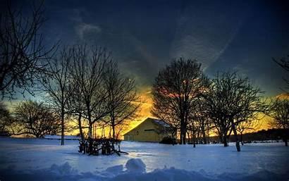 Winter Desktop Sunset Wallpapers Backgrounds Snow Background