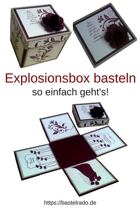So Einfach Geht S by Explosionsbox Zur Hochzeit Selber Basteln