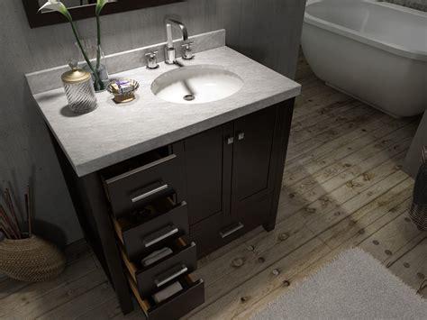 right offset sink vanity ariel a037s esp r cambridge 37 inch single sink vanity set