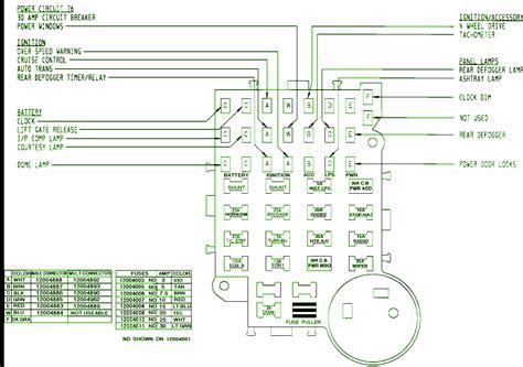 1993 Chevy S10 Fuse Diagram by Power Door Lock Circuit Wiring Diagrams