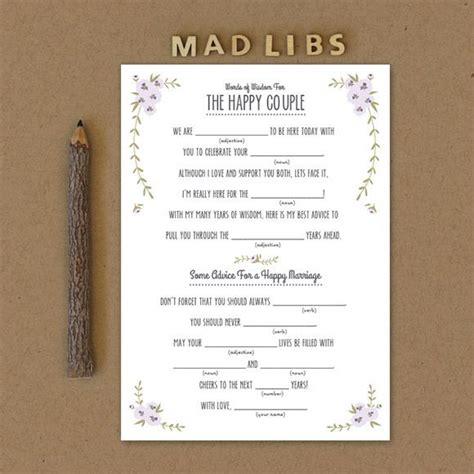 rustic mad libs printable  basic invite