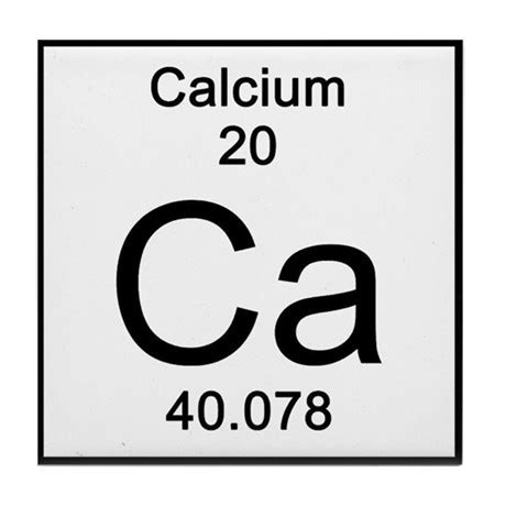 Periodic Table Calcium Tile Coaster By Science_lady