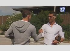 Gareth Bale with Cristiano Ronaldo on first day of
