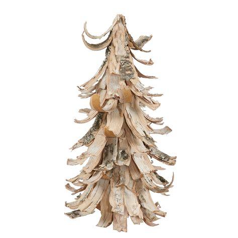 birch bark cone tree northpoledecorcom