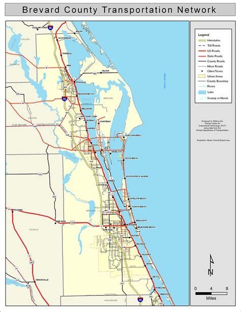 brevard county road network color