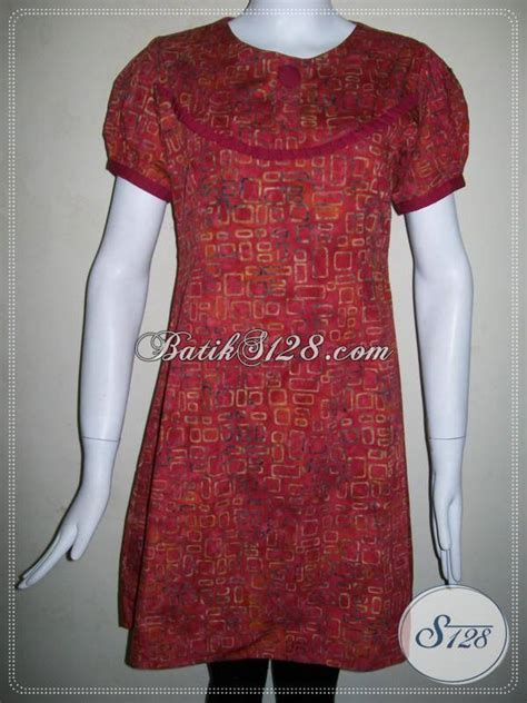 baju batik model dress  remaja  kinibatik warna