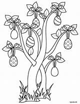 Tipirate Paques Easter Coloring Arbre Tree Coloriage Imprimer Play Spring Decorations Egg Drawing Eggs Decorating Crayon Line sketch template