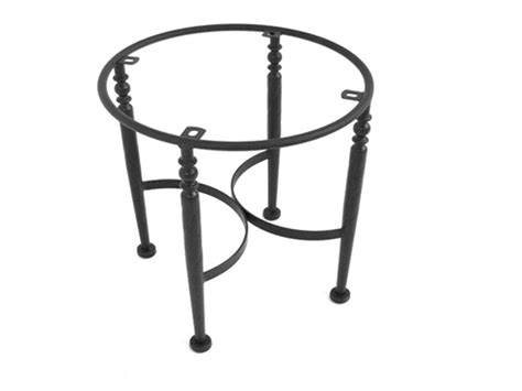 meadowcraft wrought iron end table base for granite tops