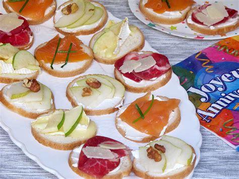 recette canapé recette canapés spécial anniversaire