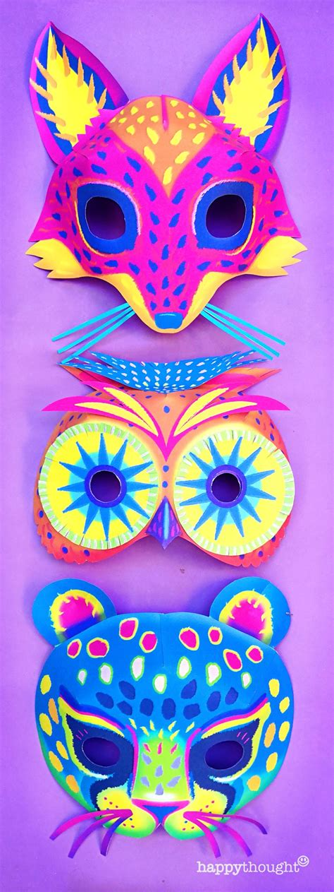printable alebrije masks  bday animal masks