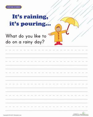 writing prompt rainy day worksheet educationcom