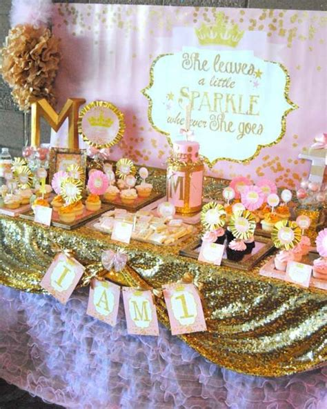 pink  gold sparkle party birthday party ideas