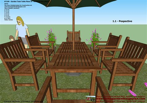 patio furniture plans wooden ideas wood working project plan