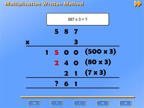 efficient written methods  add  subtract integers