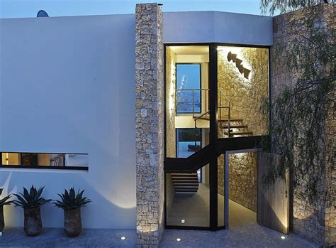 posh villa  ibiza blends glass stone  concrete decoist