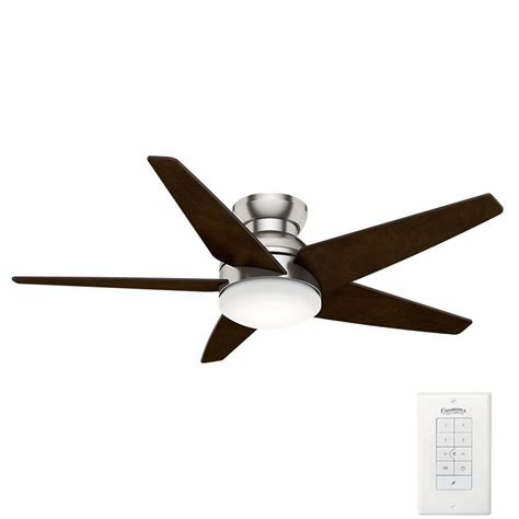 casablanca first home ceiling fan casablanca isotope 52 in indoor brushed nickel ceiling