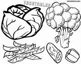 Vegetables Coloring Pages Salad sketch template