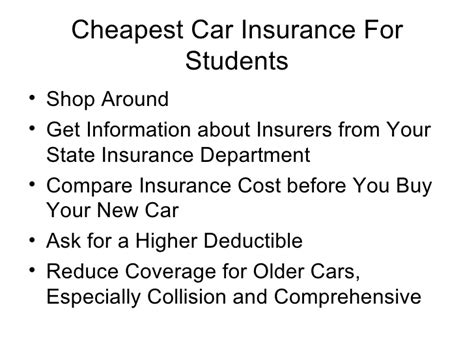 Cheapest Car Insurance For Students