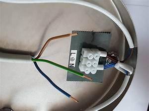 Lampe Anschließen 2 Kabel Ohne Farbe : lampe mit anschlieen interesting anschlieen montieren anleitung with lampe mit anschlieen ~ Orissabook.com Haus und Dekorationen
