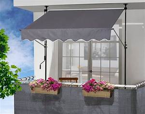 klemmmarkise anthrazit breite 250 cm kaufen otto With markise balkon mit tapeten sale