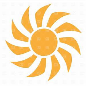 Simple symbolic sun Vector Image #589 – RFclipart
