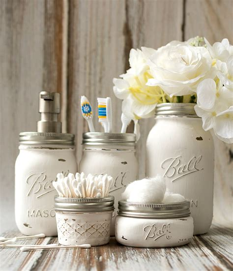 craft ideas for bathroom mason jar bathroom storage accessories mason jar crafts love
