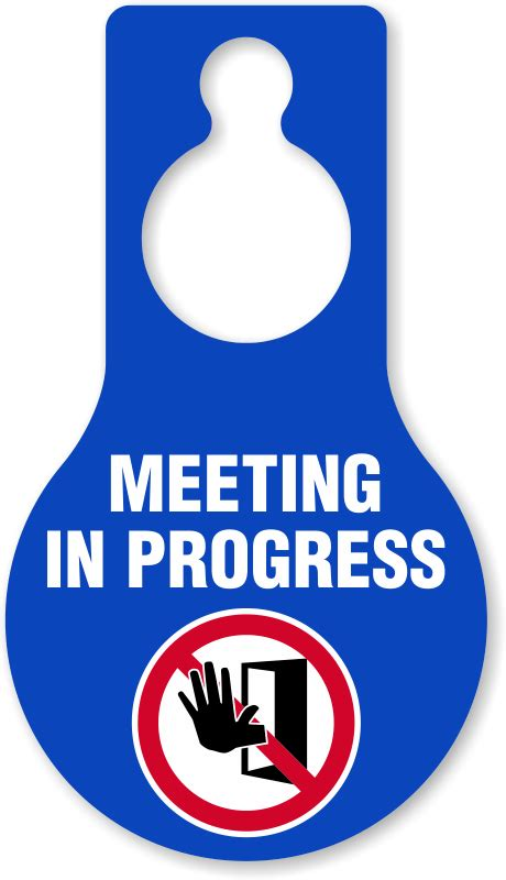 Dont Disturb Template by Template For Meeting In Progress Do Not Disturb Door Sign