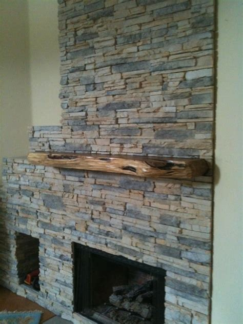 Natural Fireplace Insert by Chad Deiter Company S Latest Thin Stone Veneer Fireplace