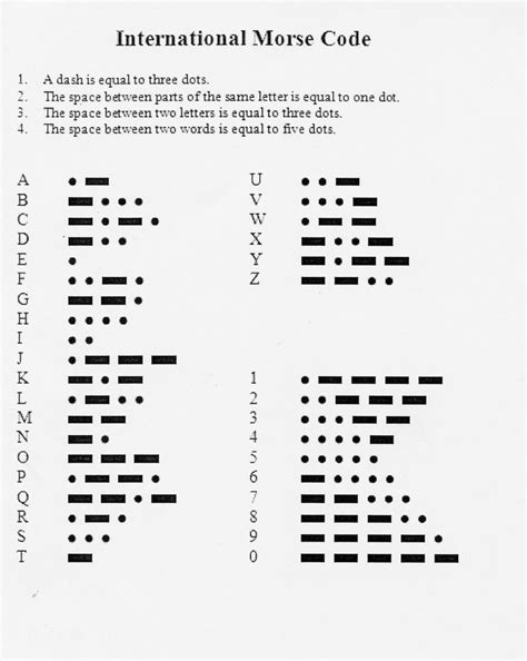 12 Best Images Of Printable Morse Code Worksheet Morse