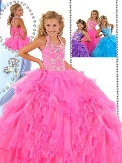 beauty puffy pink organza ruffle beaded  girls