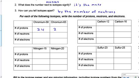 isotopes worksheet answers key livinghealthybulletin