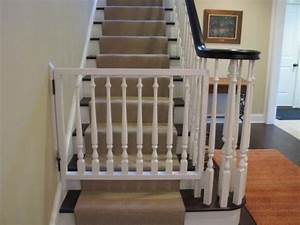 magnificent easy open baby gates diy home pinterest With dog gate for stairs