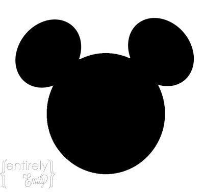 Mickey Mouse Shape Template by Entirely Emily Mickey Mouse With Printables