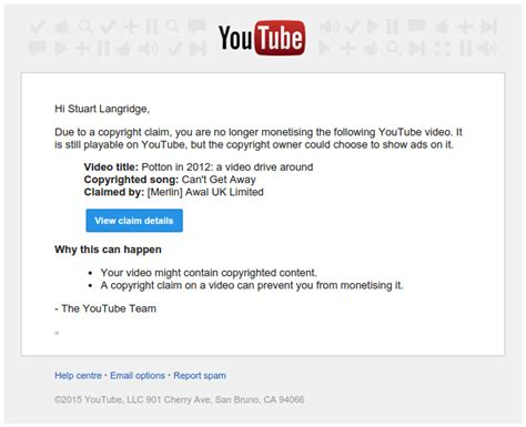 As Days Pass By — Disputing A Bs Youtube Copyright Claim