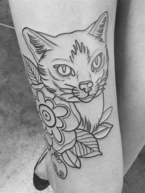 Cat tattoo Improve on this | Tattoos, Cat tattoo, Pretty tattoos