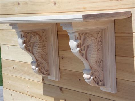 Corbels And Shelves by Wall Shelves Seahorse Corbels Wooden Shelf Brackets