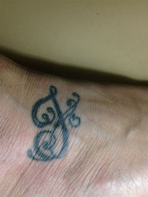 foot tattoo  letter    day  son  born