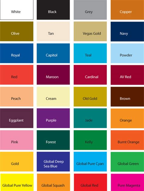 all color athletic knit colours