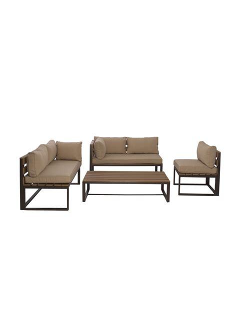 ensemble table et chaise exterieur ensemble lagoa bancs chaise et table basse pour extérieur