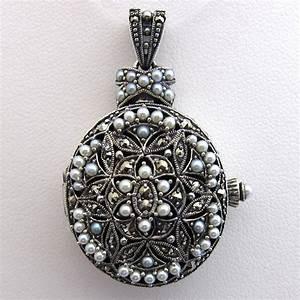 bijoux anciens paris pendentif argent perle marcassite With bijoux porte photo