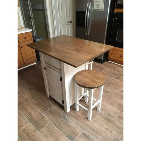 small primitive kitchen island  counter height   stools
