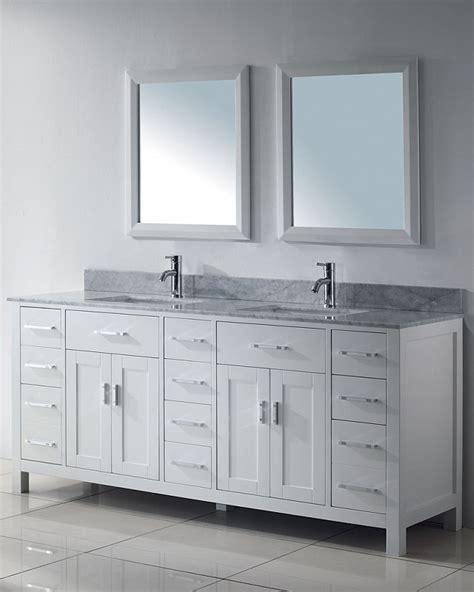 75 Inch Asta Vanity   White Sink Vanity   Espresso Sink Vanity