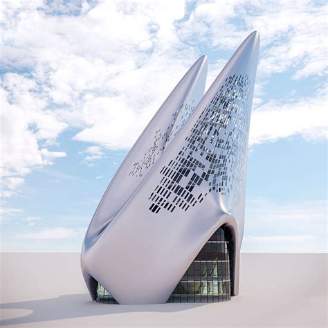 3D Futuristic building 15   CGTrader